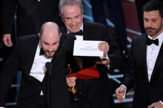 Il momento della clamorosa proclamazione dell'Oscar al miglior film