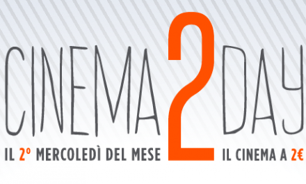 Al cinema a 2 euro con Cinema2Day